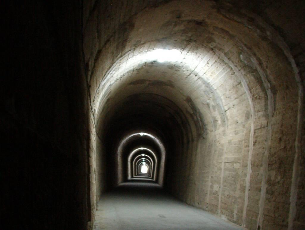 Uno de los túneles que atravesaremos